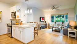 The Cove Kitchen and Living Room