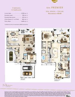 Ka Makana floor plan 60.40
