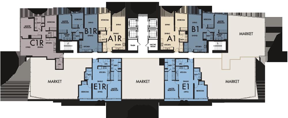 Floors 8-18 Floor Plate