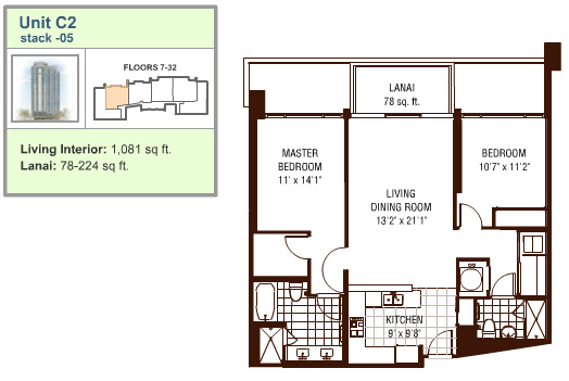 Watermark floor plan C2