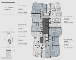 Floorplate 3 Penthouses Stack A