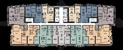 Floors 29-43 Floor Plate