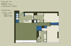 Floor 38-45 Unit D