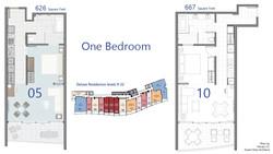 Deluxe - 1 Bedroom floor plan