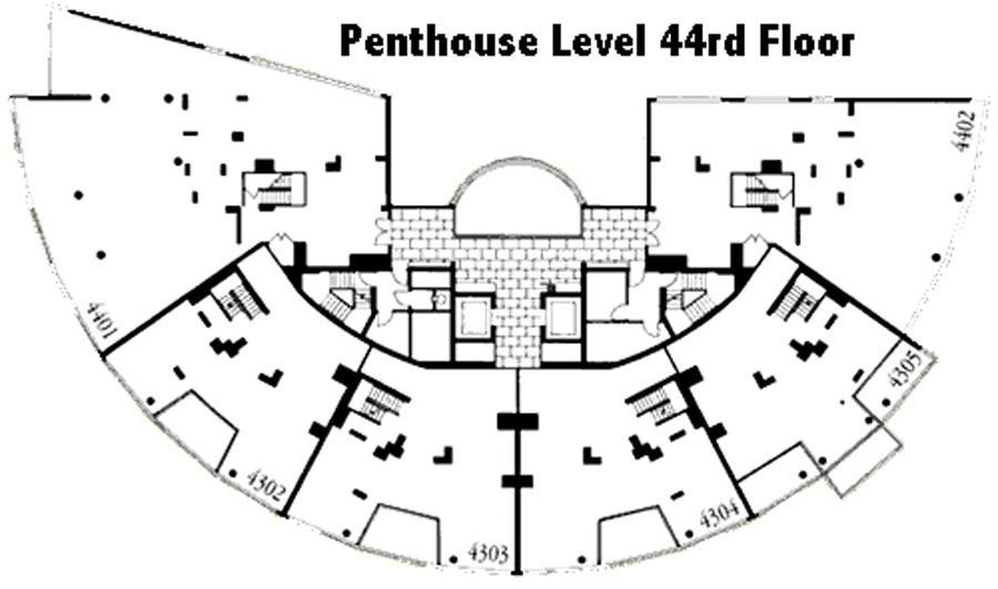 Nauru Tower floor plate - 44th Floor