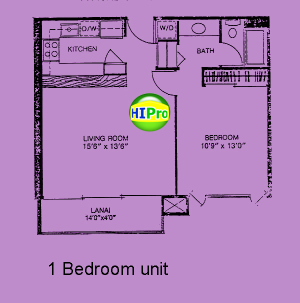 Four Paddle 1 bedroom unit