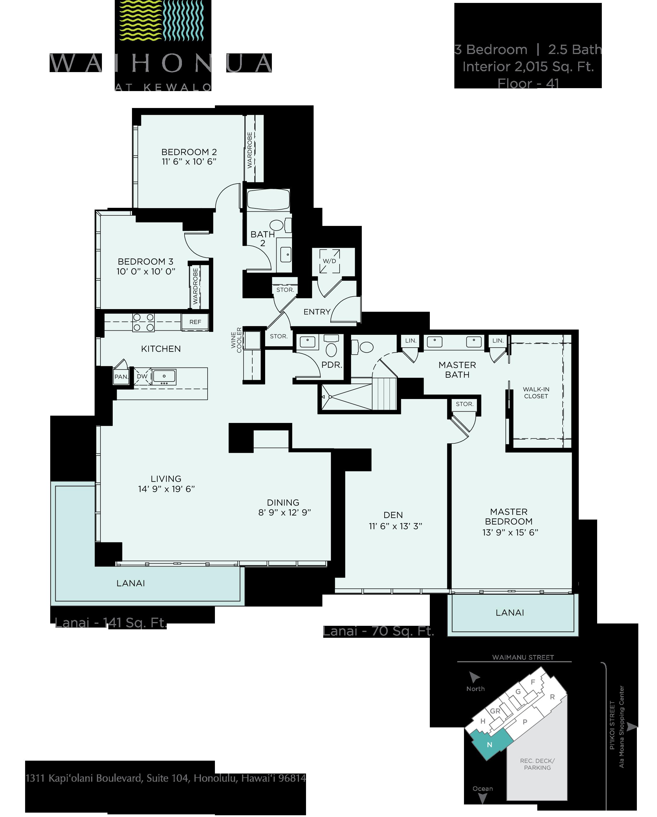 Waihonua Floor Plan - N1