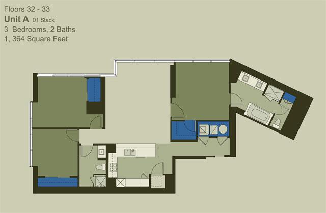 Floor 32-33 Unit A