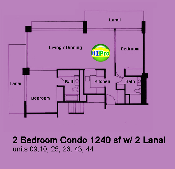 The Ilikai 2 Bedroom end unit