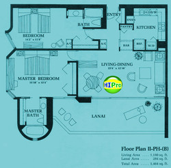 Canterbury Place Floor Plan II-PH(B)