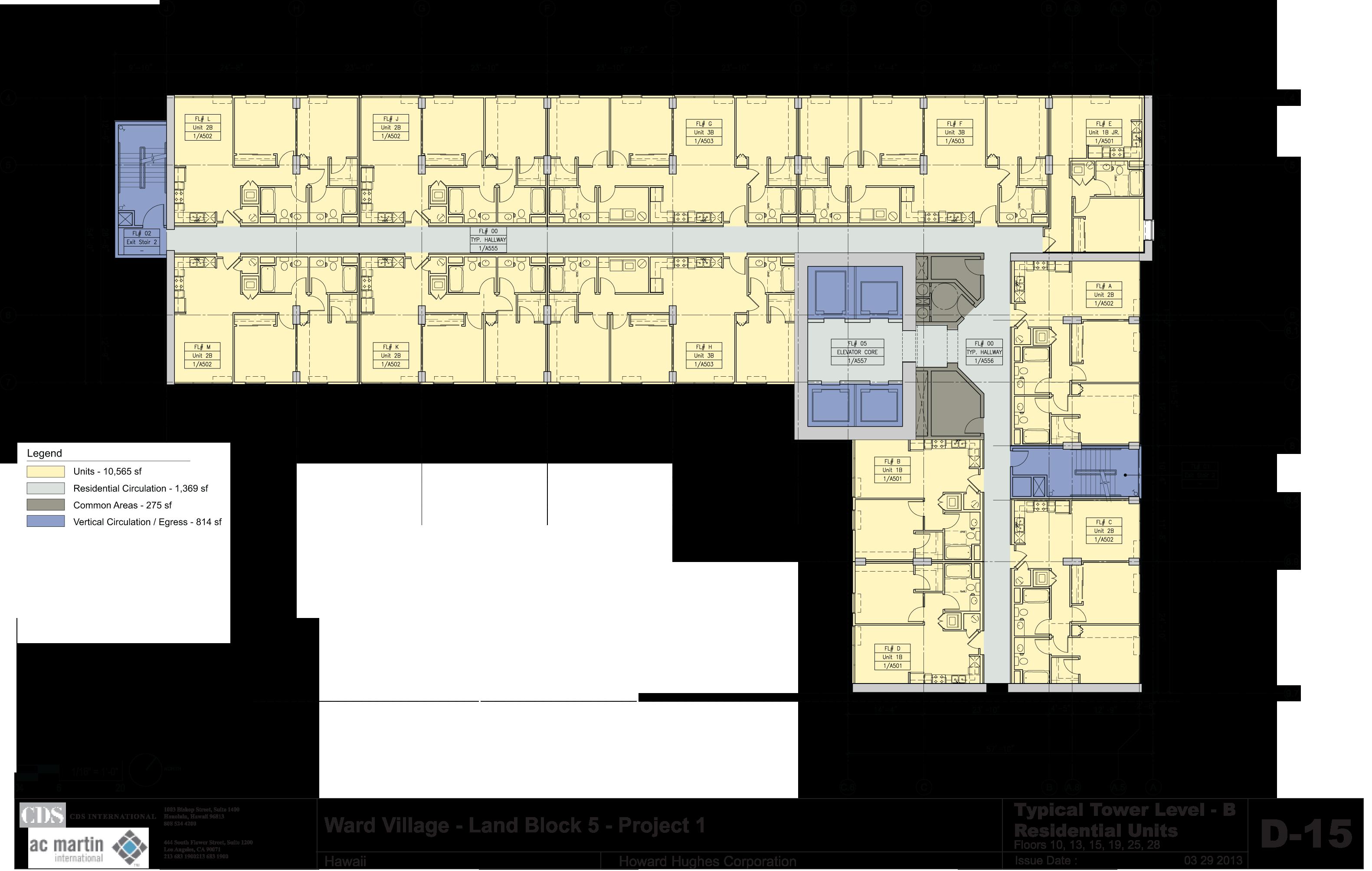 B Floors - 10,13,15,19,25,28