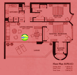 Canterbury Place Floor Plan II-PH(C)