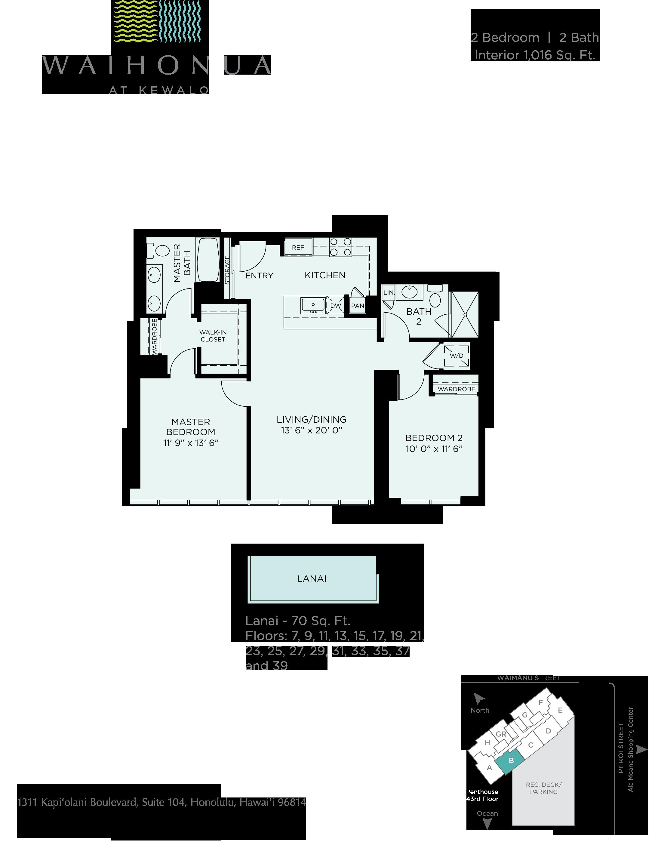 Waihonua Floor Plan B