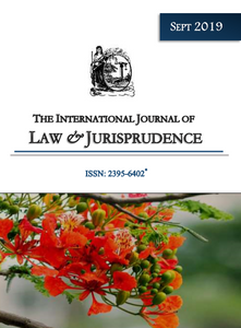 September Issue 2019| International Journal Of Law and Jurisprudence