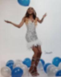 Custom birthday dress ❄️🌬💧made by your