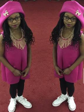Custom Kid Dress and Accessories