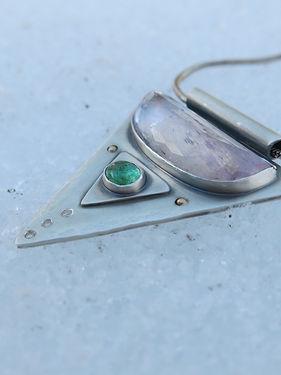 Turquoise and Orgen Sunstone - Sarah Walkwe Jewelry