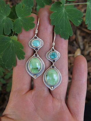 Turquoise Truth Drop Earrings