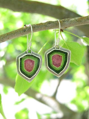Watermelon Tourmaline Joy Earrings