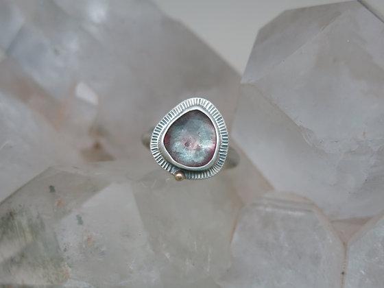 Glowing Tourmaline Heart Ring