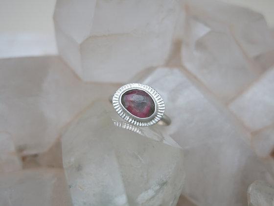 Tri-Color Tourmaline Ring