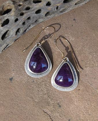 Sugilite Wing Earrings