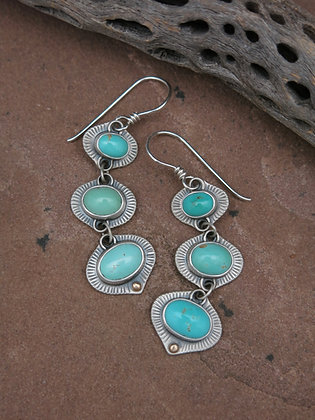 Triple Truth Turquoise Earrings