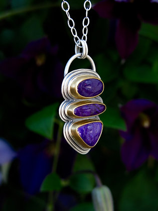 Sugilite Shield of Light Talisman Necklace