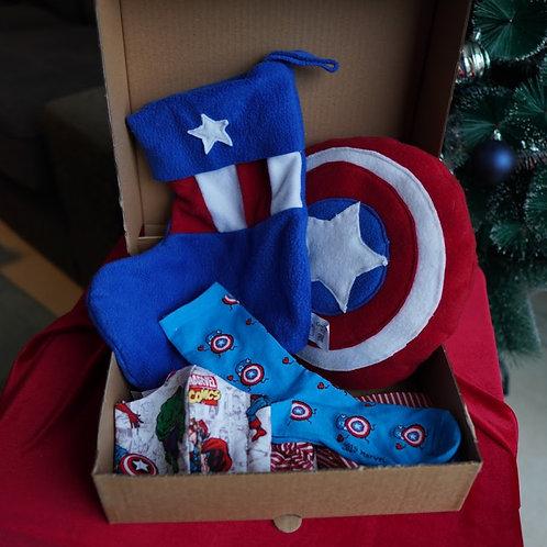 מארז בהשראת מגן קפטן אמריקה
