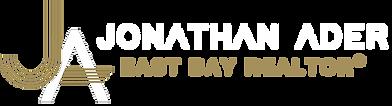 Jonathan Ader horizontal logo gold and w