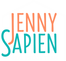 Jenny Sapien logo color with white t .pn