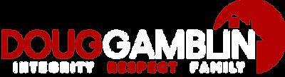Doug Gamblin Logo Red White T.png