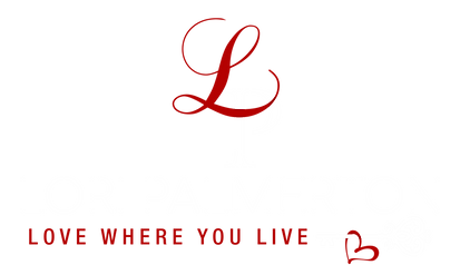 Lori Palmerton logo stacked red and whit