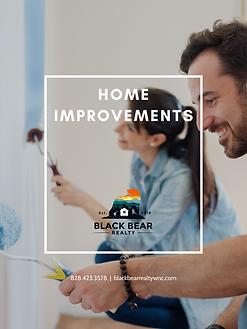 HOME IMPROVEMENTS COVER BLACK BEAR REALT