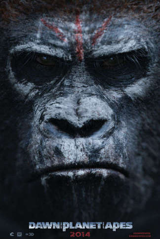 """Dawn Planet of the Apes 27"""" x 40"""""""