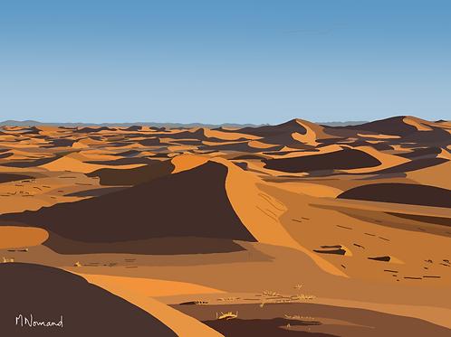 dunes/papier japonais sans cadre 30x40