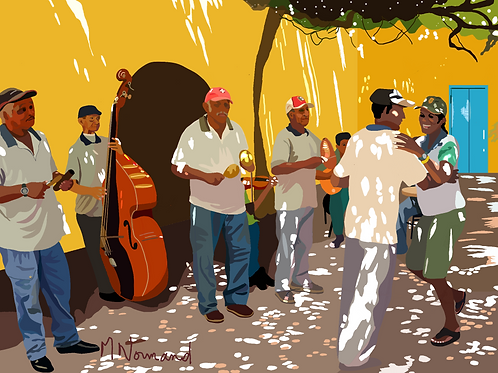 quand la musique est bonne !/ Poster encadré bois 30x45