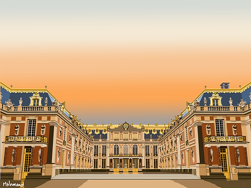 Château de Versailles/ Poster sans cadre 30x45