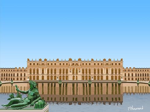 Château de Versailles/ Poster encadré bois 30x45