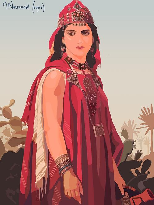 Belle kabyle (Algérie)/ Poster sans cadre 30x45