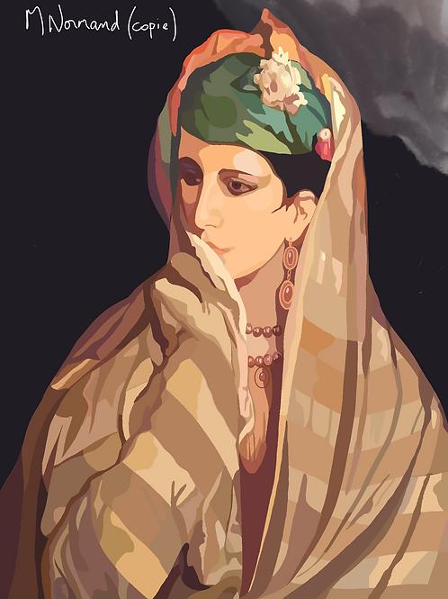 Belle marocaine (copie)/ Papier japonais sans cadre 30x40