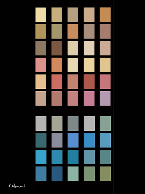 couleurs de Saint-Pétersbourg/ Papier japonais sans cadre 30x4