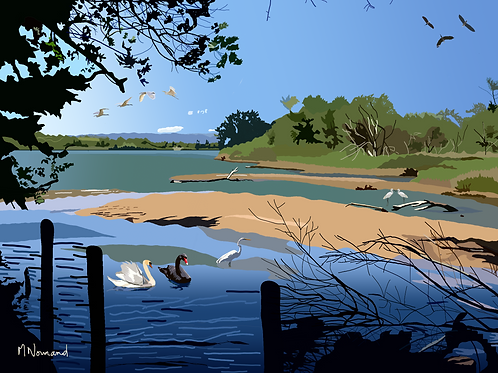 étangs de Villepey/ Poster sans cadre 30x45