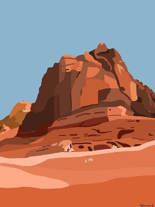 Wadi Rum / Poster encadré bois 30x45