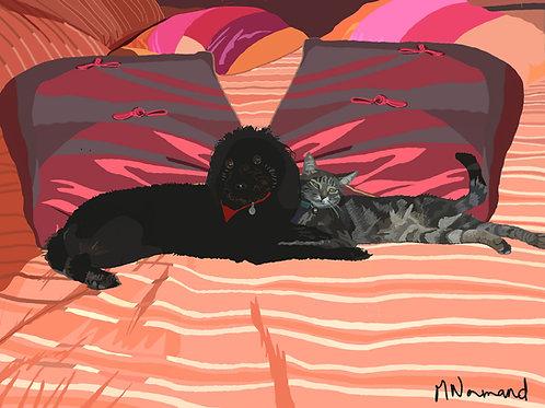 Lola et Muse/ Poster sans cadre 30x45