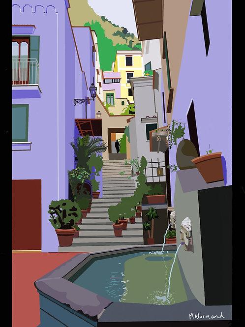 Amalfi / Poster encadré bois 30x45