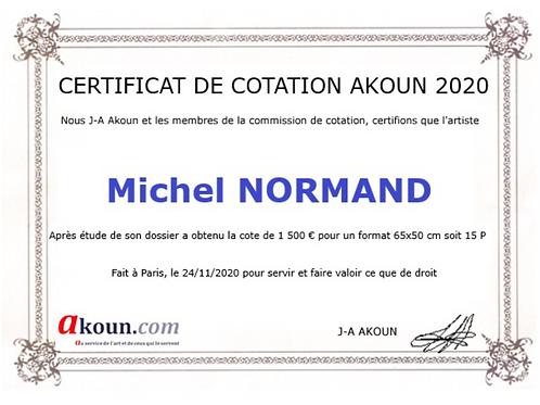 certificat Akoun/ Papier japonais sans cadre 30x40