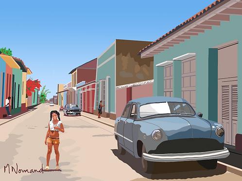 Cuba-Trinidad/papier japonais sans cadre 30x40