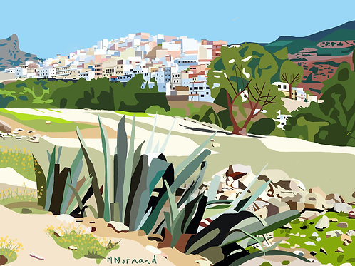 Moulay Idriss / Poster sans cadre 30x45