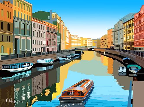 Saint-Pétersbourg/Poster encadré